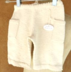 8 to 12 month ORganic hand knitted cotton pants  natural color toddler baby clothing on Etsy, $24.53 AUD