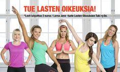 Tue lasten oikeuksia samalla kun ostat Lorna Jane tuotteita Suomessa! Huomatkaa, etta kampanja loppuu 30.4 - viela ehtii vaikuttaa!