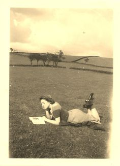 Vera's friend reading