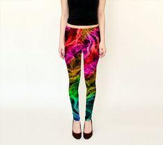 Colorful Leggings, Yoga Leggins, Red, Purple, Teal, Green, Printed Leggings, Women Clothing, Women Leggings, Spandex Sport Pants