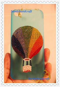 iPhone 4s Case Bling hot balloon iphone case by Sandyhandcraft, $25.89