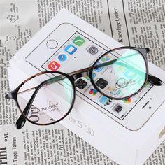 nice Eye Glasses oculos de grau femininos Women and Men Retro Round Optical Glasses Frame