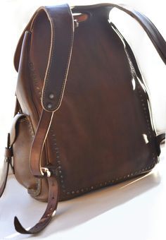 Small Leather Bag, Thick Leather, Leather Men, Backpack Bags, Leather Backpack, Leather Wallet, Back Bag, Trendy Handbags, Leather Bags Handmade