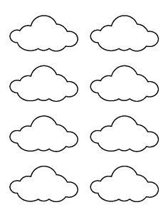 Use the printable outline for crafts, creating stencils, sc Small cloud pattern. Use the printable outline for crafts, creating stencils, sc… Felt Crafts, Diy And Crafts, Crafts For Kids, Paper Crafts, Templates Printable Free, Free Printables, Shape Templates, Royal Icing Templates, Cloud Template