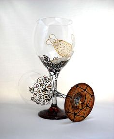 Sea Turtle Goblets Hand Painted Glassware - sackettdoodles