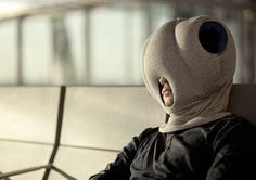 ostrich pillow Creating a personal protection shelter for your head and arms, the Ostrich Pillow by design duo Key Portilla-Kawamura and Ali Ganjavian promotes complete relaxation anywhere and everywhere.
