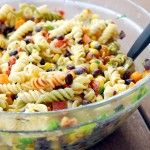 We love this pasta salad so much it becomes a main dish every time we make it. We take whatever steak or chicken we have leftover from grilling one night, slice it up and throw it in this salad.