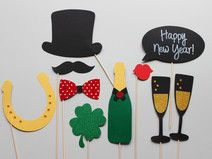 """Photo Booth - Foto Accessoire-Set """"Happy New Year"""""""