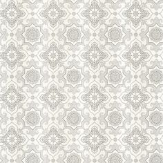 Tendilla Light Grey Lattice Wallpaper from the Alhambra Collection by Brewster Home Fashions