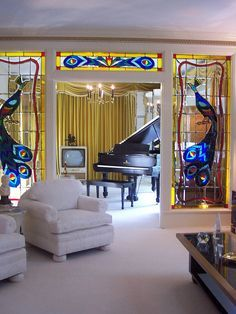 Inside Graceland in Memphis. If you haven't been here, you must go.  Not kidding around...it's amazing!!'