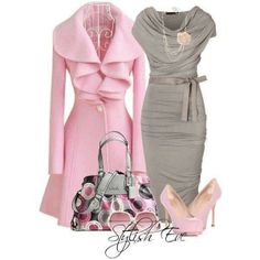 Pink & Gray Sophisticate. I love the dress!! For my daughter's wedding?