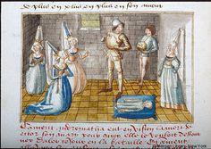 Medieval Manuscript Images, Pierpont Morgan Library, Destruction de la noble cite de Thebes (MS G.23). MS G.23 fol. 111v