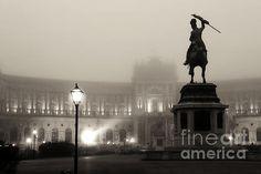 Foggy Vienna Night Photograph by John Rizzuto Vienna, Statue Of Liberty, Fine Art Prints, America, Night, Photography, Travel, Statue Of Liberty Facts, Photograph