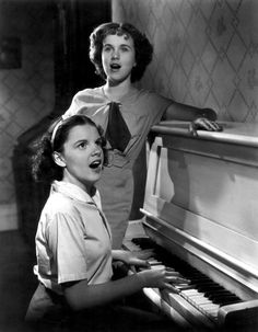 Judy Garland & Deanna Durbin,  started in film as child stars, (very talented)