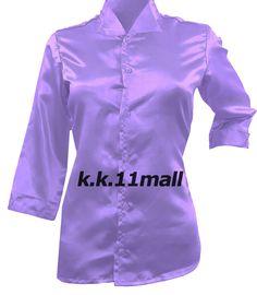 Casual Wear Satin New Designer Fancy Shirt Medium Purple 3/4 Sleeve Shirt S91 #Unbranded #Shirt #Casual Victorian Shirt, Half Sleeve Shirts, Satin Shirt, Casual Party, News Design, Satin Fabric, Shirts For Girls, Party Wear, Shirt Blouses