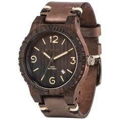 WeWood Alpha Swiss Rough African Blackwood Watch  4ff9ba5b4a