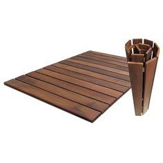 Roll Floor Indoor/Outdoor 24 x 36 Wood Deck Tile in Oiled Wood Deck Tiles, Ikea Deck Tiles, Interlocking Deck Tiles, Outdoor Rugs, Indoor Outdoor, Ikea Outdoor Flooring, Ikea Patio, Outdoor Decking, Laying Decking