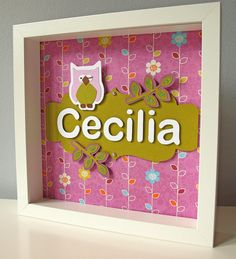 Purple and Green Owl Decor  Personalized by LittlePeaPodCrafts, $35.00