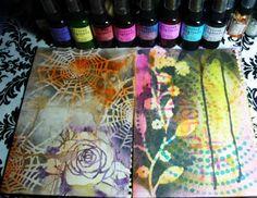 Belinda Schneider's blog - Mixed Media Journal Ideas and tutorial on ink background plus info on inks!