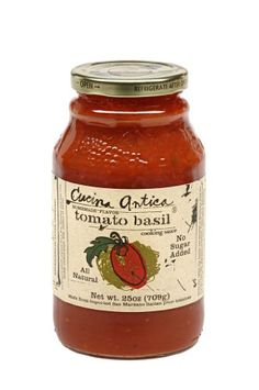 Cucina Antica Tomato Basil Sauce, 25-Ounce Jars (Pack of ...