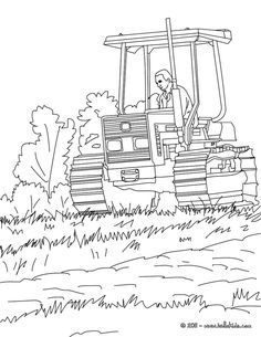 farmer on his tractor coloring page amazing way to discover job more original content