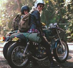 Both originally from Sweden, Maria and her best friend, Nina, love to ride. #biker #queen http://youtu.be/uyupkfBE_IQ: