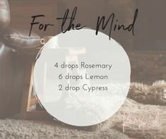 Essential oils for the mind. #doterra #focus #rosemary #lemon #cypress