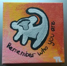 Mini Canvas Lion King Little Simba with Quote Painting by CanvasPaintingsByTEL on Etsy https://www.etsy.com/listing/227243900/mini-canvas-lion-king-little-simba-with