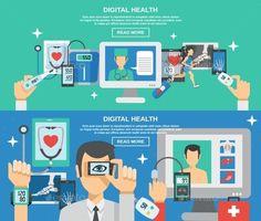 Digital Health Banner Set Vector EPS. Download here: https://graphicriver.net/item/digital-health-banner-set/14053779?ref=ksioks