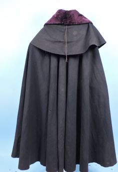 RARE 18TH C MEN'S LAYERED WOOL RIDING CLOAK W VELVET COLLAR in Clothing, Shoes & Accessories, Vintage, Men's Vintage Clothing, Pre-1930 (Victorian, 20s) | eBay