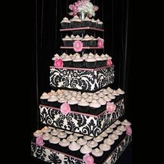 wedding cakes with cupcakes on tiers | not into wedding cakes a wedding cupcake display is one dessert ...