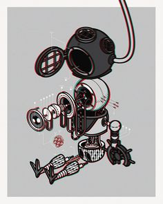 DIVER BIRD_BOT_Exploded View by Stephen chan
