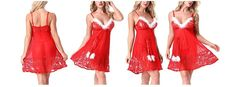 Santa Claus Lingerie Christmas Chemise Sexy Red Role Play Thong Gifts For Her  #SantaClausLingerie #Sexy #Christmas