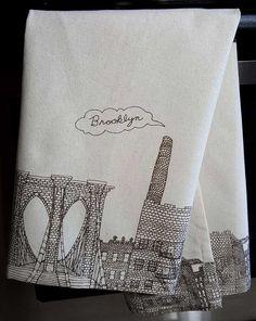 Brooklyn Themed Dish Towel from Fishs Eddy in NYC