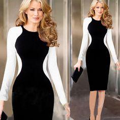 #dress #womenfashion #popular #fit #party Cute Dresses, Casual Dresses, Dresses For Work, Women's Dresses, Casual Clothes, Spring Dresses, Dresses 2014, Pencil Dress, Elegant Woman