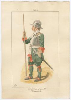 British; Coldstream Guards, Pikeman 1669 by Charles Lyall