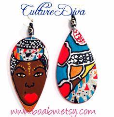 Culture Diva Earrings by BOABW on Etsy, $20.00