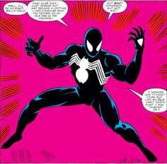 Just a bunch of comic book panels from Marvel Comics, DC Comics, Image Comics, and basically any book that caught my eye. Stan Lee Spiderman, Spiderman Black Suit, Spiderman Marvel, Avengers, Batman, Comic Books Art, Comic Art, Marvel Secret Wars, Black Suit Men