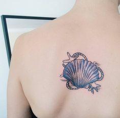Shell and Starfish Tattoo by ılgın özdoğan