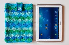 Crochet case for tablet pc & spike stitch tutorial