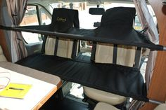 New Mk2 Cabbunk showing the flatter  bunk with new internal poles,  improved support and adjustable supports.