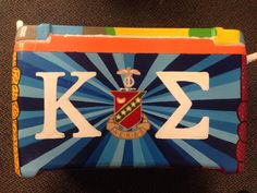fraternity cooler, Kappa Sigma cooler, Painted cooler
