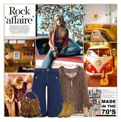 Seventies Affaire by kittyfantastica on Polyvore featuring мода, Yves Saint Laurent, MiH Jeans, Isabel Marant, The Row, Prestel Publishing and Orla Kiely