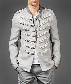 John Varvatos Official Site: Shop Online , VARV-3817 Rope Detail Jacket, johnvarvatos.com