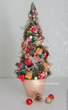 Купить Елка Новогодняя настольная.Коллекция Праздничная.Новогодний декор. - елка новогодняя, новогодняя елка