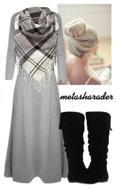 I already have similar boots; the dress and scarf would have to be separate, and the dress needs a pop of color.