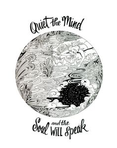 8x10 Quiet the Mind by RebeccaBorrelli on Etsy