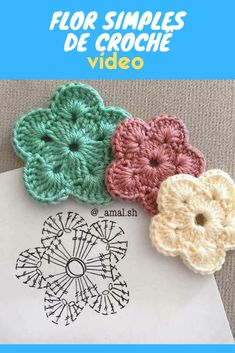 Crochet Flower Tutorial, Crochet Instructions, Crochet Motif Patterns, Crochet Patterns Amigurumi, Crochet Doilies, Crochet Flowers, Crochet Waffle Stitch, Crochet Mask, Tsumtsum