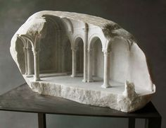 Miniature  Carved Into Marble  by Mathew Simmonds