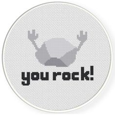 FREE for March 28th 2016 Only - You Rock! Cross Stitch Pattern